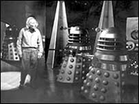 Hartnell with daleks